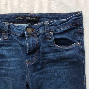 Dark Wash Cropped Skinny Jeans